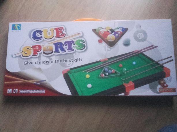 Gra Bilard Cue Sports dla dzieci w pudełku 62x29 cm