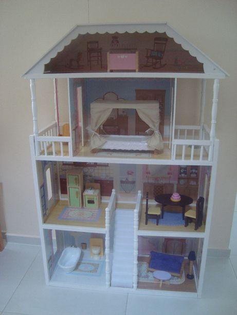 KidKraft bardzo duży 130 cm drewniany domek dla lalek Barbie