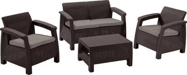 Садовая мебель Allibert Corfu Set диван стол 2 кресла Венгрия Наличии