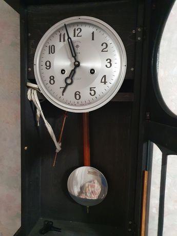 Zegar ścienny wahadłowy polaris czarny
