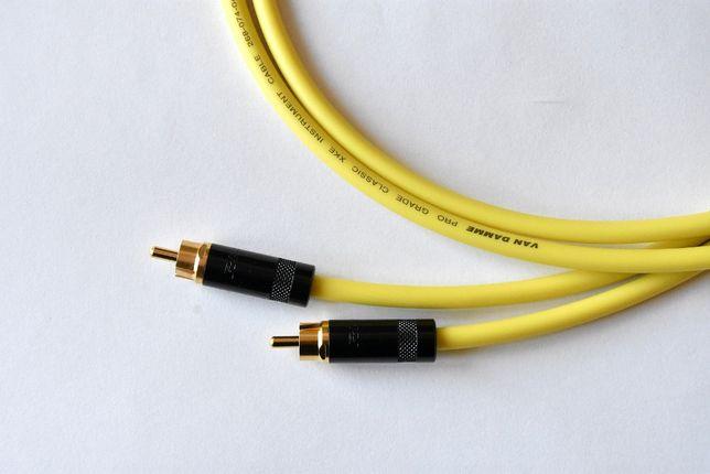 Interkonekt audio RCA VAN DAMME NEUTRIK 30/50/75/100/150 cm wzmacniacz