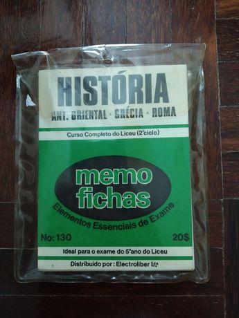 Sebentas de Historia tamanho pequeno - antiguidades vintage coleção