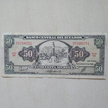 50 сукрес  эквадор 1988 года