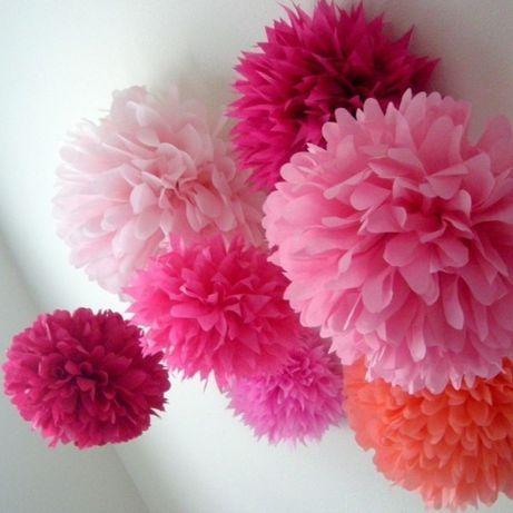 Помпоны бумажные цветы 25 см (декор, фотозона, свадьба, декор)