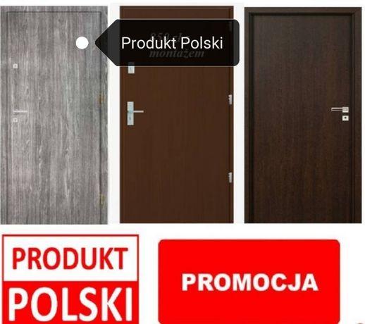 Polskie drzwi wejściowe z Montażem, cały zestaw z gwarancją