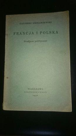 Stara książka Francja I Polska 1930 r