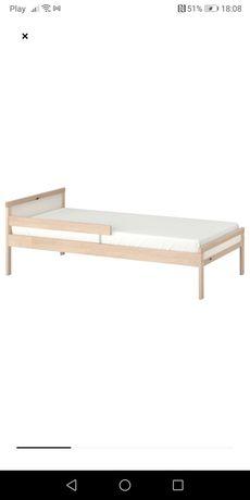 2 łóżka dziecięce drewniane ikea sniglar 70x160