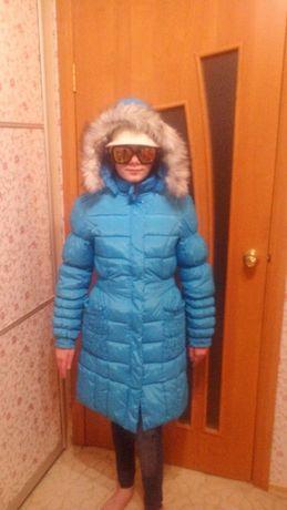 Зимняя куртка пальто для девочки р.150-160