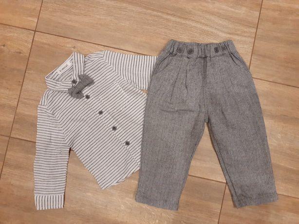 Koszula z muszką i spodnie zestaw rozmiar 80