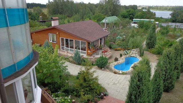 Продажа дом имение с Маковище 250м+100м гостевой, водохранилище, лес
