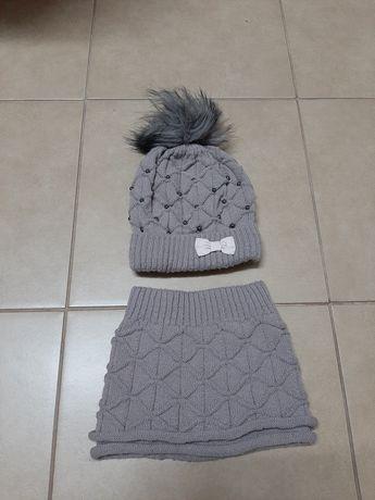 Zestaw zimowy czapka, komin