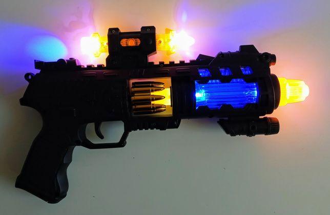 Karabin, pistolet zabawkowy dla dzieci, świecący z dźwiękiem-NOWY