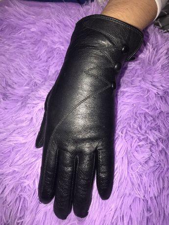 Новые Кожаные перчатки с Мехом в нутри