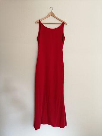 Vestido vermelho comprido
