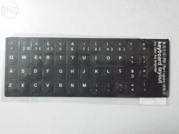 Autocolante para teclados pvc português