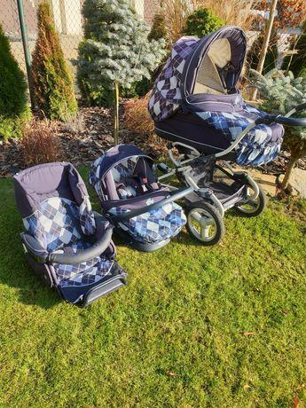 Wózek dla dziecka, gondola,spacerówka i nosidełko, BEBECAR STYLO AT