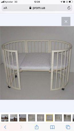 Дктская кровать трансформер 7в1+комплект матрассов б/у