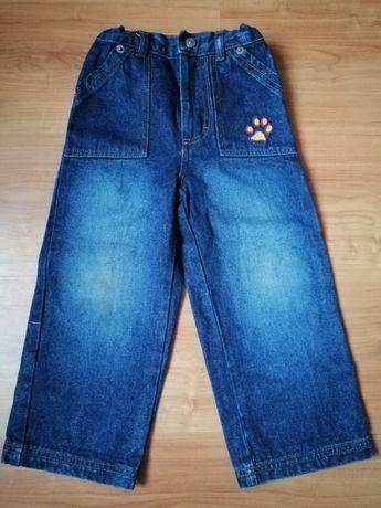 Spodnie dżinsowe z łapką 98
