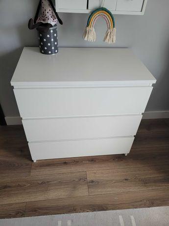 Komoda IKEA MALM trzy szuflady biała