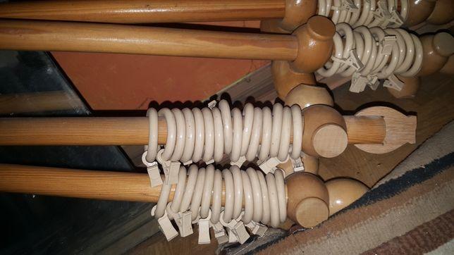 Karnisz drewniany podwojny