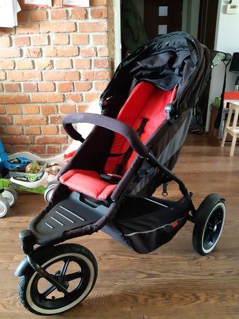 Phil&Teds wózek 2 osobowy, bdb