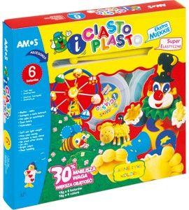 Ciasto-plasto 6 kolorów + akcesoria AMOS 18 g