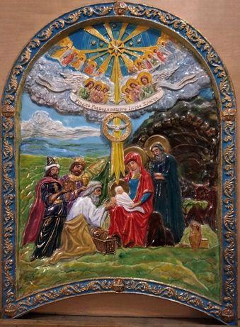 Икона-барельеф Рождество Христово