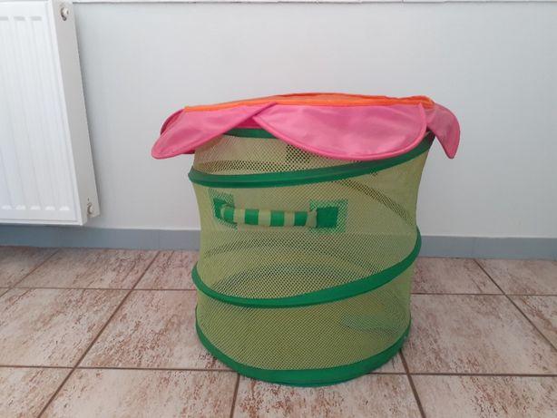 Kosz IKEA pojemnik składany bieliznę poduszki pluszaki Zabawki pokrywą