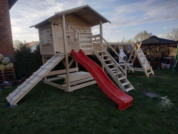 Plac zabaw huśtawka domek dla dzieci