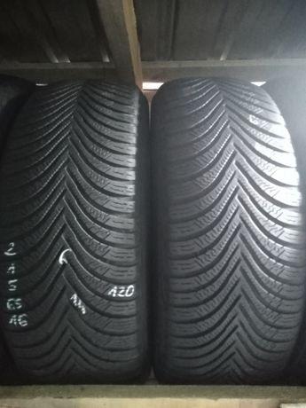 Sprzedam opony zimowe używane 215/65/16 Michelin, bieżnik 6mm