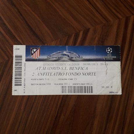 Bilhete Atlético de Madrid - Benfica 2015