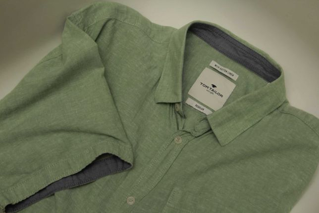 Tom Tailor рр 3XL XXXL рубашка льняная