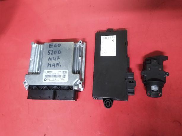BMW 5 E60 E61 520D 2.0D 177KM N47D20A LCI komputer silnika CAS kluczyk