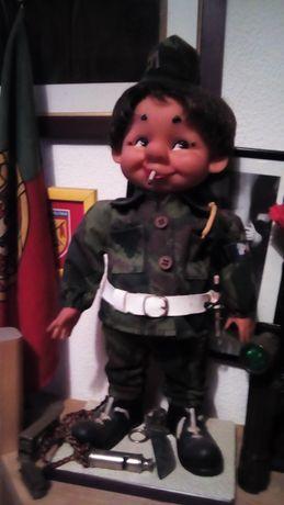 Antigo brinquedo Boneco Militar Polícia Exército Português PM