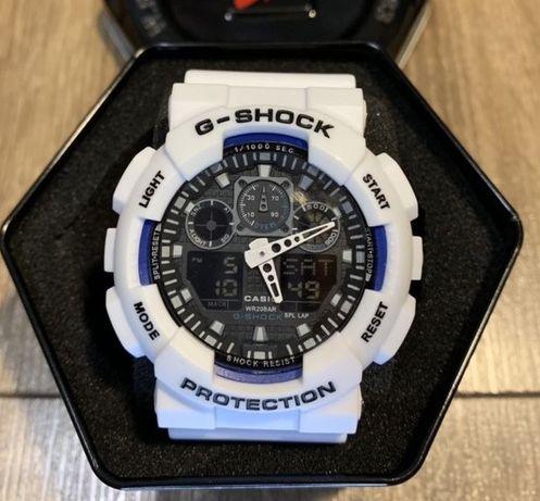 Zegarek Casio G-Shock GA-100 Biały z czarną tarcza