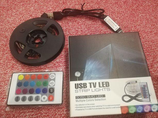 taśma LED RGB pilot! poświetlenie za TV-gotowa! Tylko podłączyć pod TV