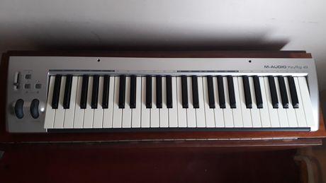 Продам миди клавиатуру m-audio key rig 49