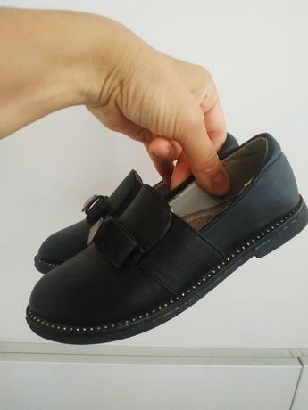 Кожаные туфельки на девочку 18 см