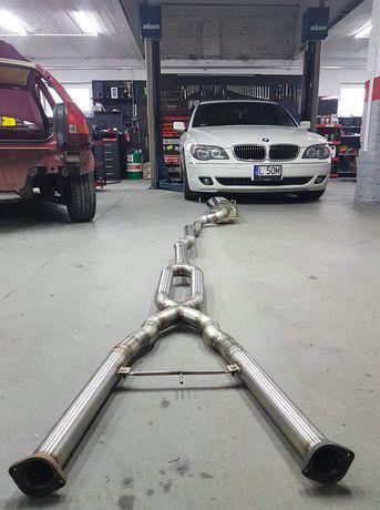 Przepustnica wydechu na pilot kpl wydech zestaw P&P BMW E65 E66 750LI