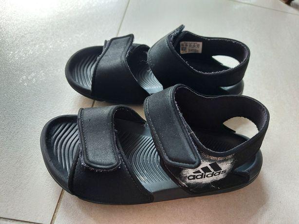 Adidas sandały sandałki czarne r 32 19cm stan bdb