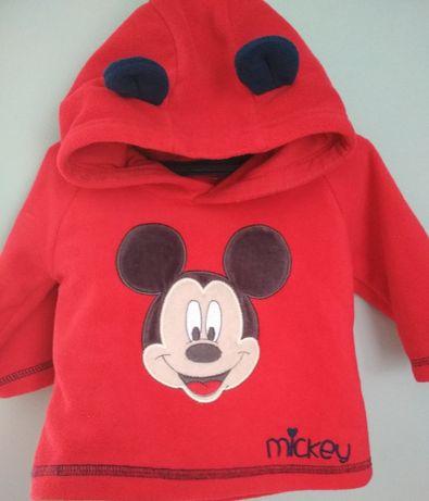 Bluza polar niemowleca myszka Mickey dla chlopca 3-6m Disney