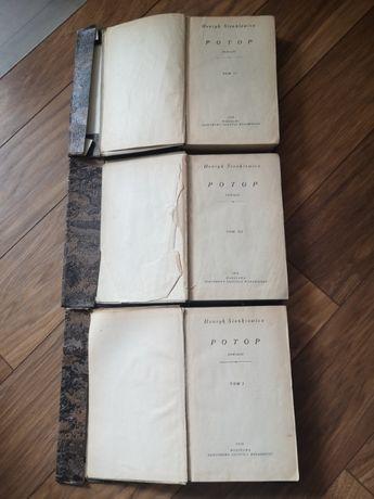 Stare książki Henryk Sienkiewicz Potop 1958 rok wydania