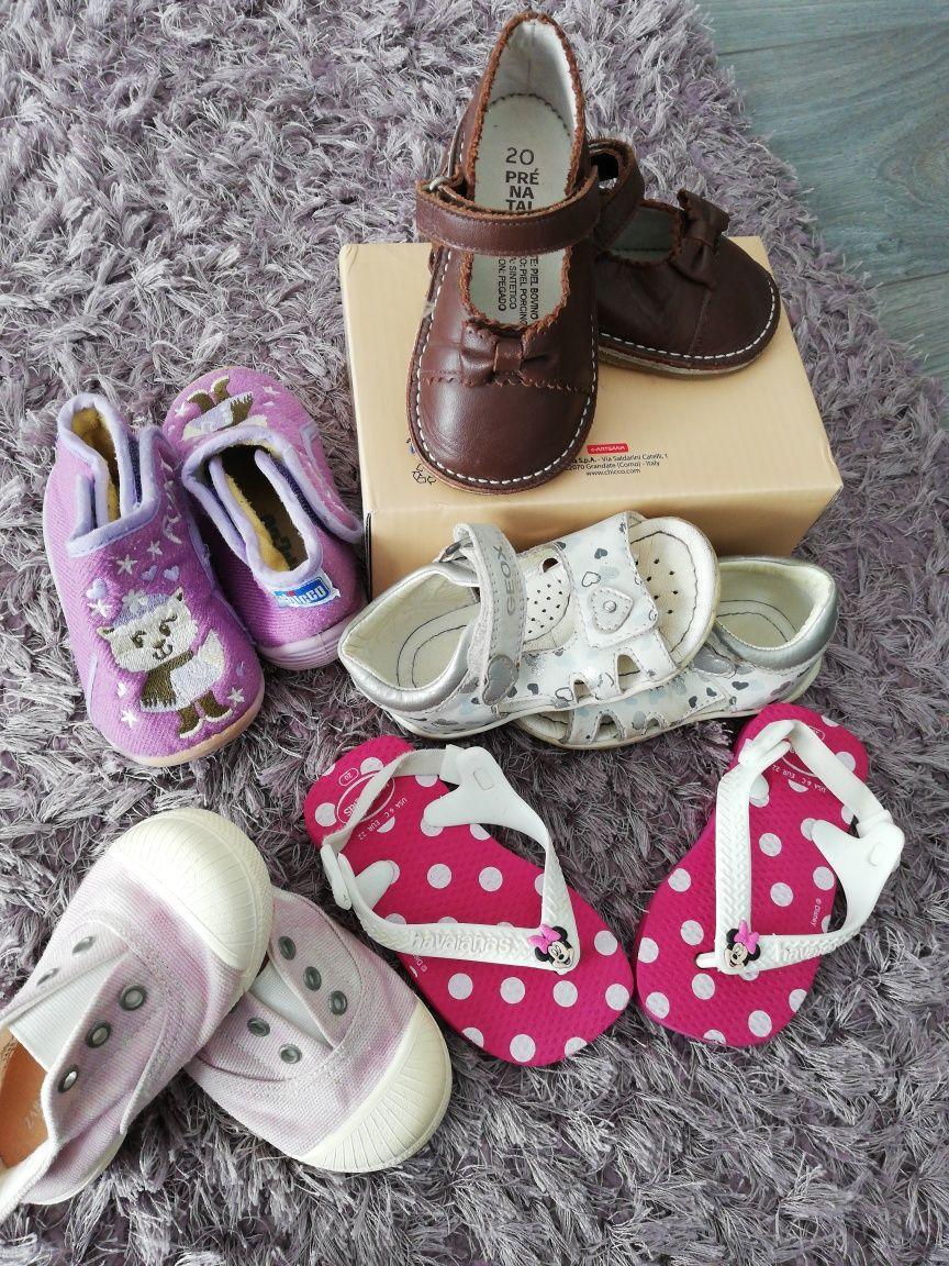 Vendo lote sapatos n°20, menina
