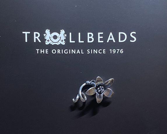 Trollbeads oryginalny Anemone Pendant, kwiat Anemon, nowy