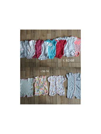 Paczka ubranek dla dziewczynki r.56-86, ponad 70szt
