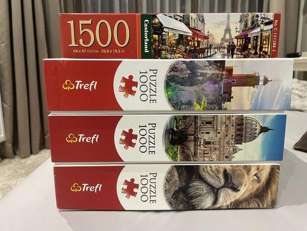 Puzzle trefl 1000 castorland 1500 kompletne