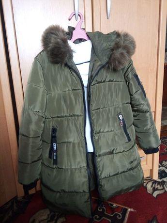 Тёплая удлинённая куртка