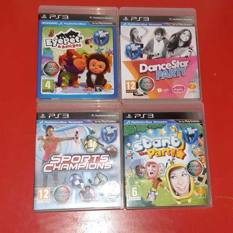 (Ps3) Pack de 4 Jogos Para Playstation Move