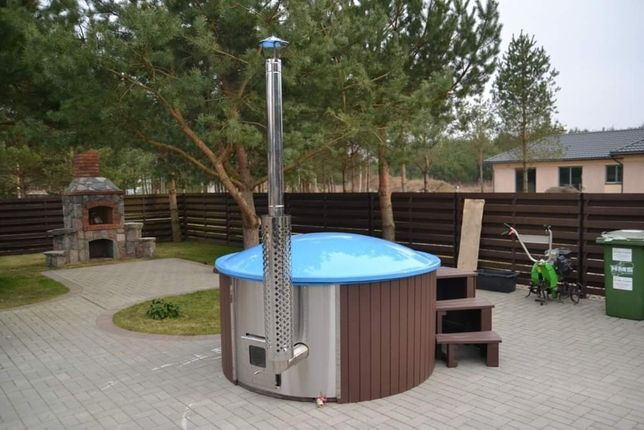 Sauna ogrodowa ruska bania balia ogrodowa jacuzzi spa hot tub