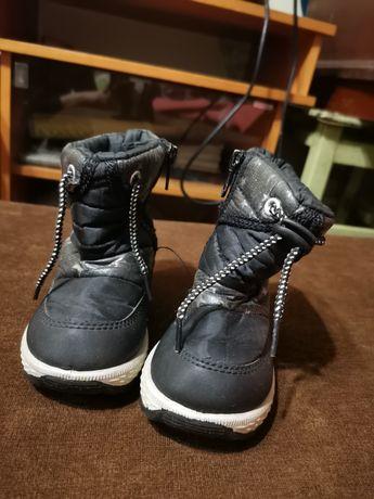 Ботинки зимние дутики детские 21 размер на меху